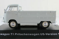 "DeAGOSTINI #13 VW T1 Pritsche ""US-Version""(1966) in hellgrau 1:43 NEU/PC-Vitrine"