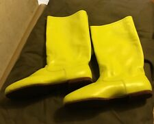 Traditional Polish Hussar, Nobleman boots. Yellow leather