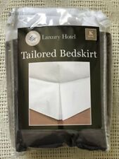 bedskirt, tailored,grey, king, barely used