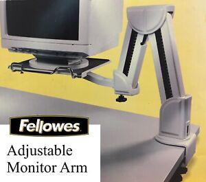 FELLOWES Ergonomischer Monitor Arm mit gepolsterter Fläche & Tastaturablage