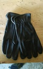 XL Black Deer Skin Leather Driving Dress Work Gloves Deerskin New!!