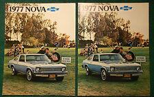 New listing 1977 Original Chevrolet Nova set of 2 Sales Brochures 1st print