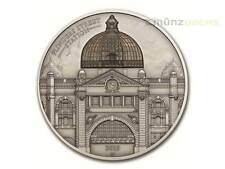 10 $ Dollar Flinders Street Melbourne High Relief Cook Islands 2 oz Silber 2015