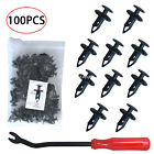 Car Fasteners Bumper Retainer Clips 100 Pcs Fits Most Cars Replacement Parts