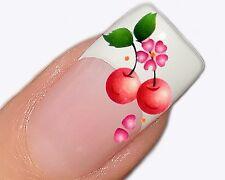 Nailart Wasser Transfer Tattoo Aufkleber für Fingernägel  XF1016 Kirschen Design