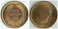 TURCHIA   TURKEY   25 KURUSH 1923 / 46 ORO  GOLD OR Goldmünze RARE COIN
