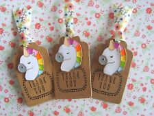 1 x Gorgeous Rainbow Unicorn Pin Badge Gift Sister Friend Mum Teacher Auntie