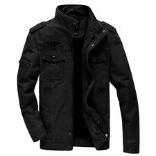 Fashion Men Military Army Cotton Jacket Fashion Air Force Casual Zip Up Outwear