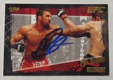Phil Baroni Signed UFC 2010 Topps Gold Card #97 Autograph Pride FC Bushido 30 39