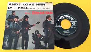 "THE BEATLES (45 RPM - ITALY) QMSP 16365  ""AND I LOVE HER""  (TOP-RARE 2° ISSUE)"