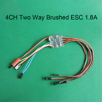4CH Two Way Brushed ESC Bidirectional Speed Controller BEC for 35/1 Tank Model