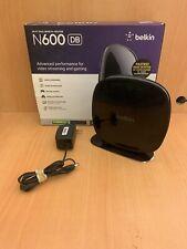 Belkin N600 DB - Wi-Fi Dual Band N+ Router 300Mbps Black