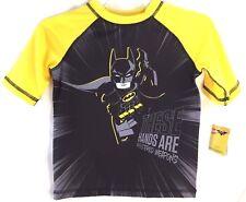 Childrens Clothes Boys SZ5 LEGO Brand Yellow Black Batman Superhero Swim Top NEW