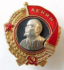 USSR Order of Lenin Type 3 1936-43 Screwback Brass Enamel Superb Russian Copy