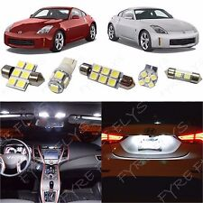 5x White LED interior lights package kit for 2003-2008 350Z NZ2W