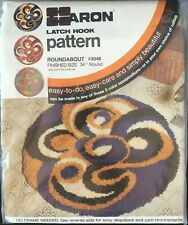 "Vintage Retro Caron Latch Hook Pattern Roundabout #3048 34"" Round Color Options"