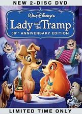 Lady and the Tramp (DVD, 2006, 2-Disc Platinum Ed) Free Ship Canada!