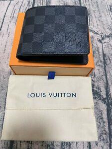 Authentic Louis Vuitton Multiple Damier Graphite Canvas Bifold Mens Wallet
