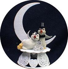 Happy Penguin Kickin Feet Wedding Cake topper funny top nature Animal Moon 1