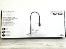 Kohler Semiprofessional Stainless Steel Pull-Down Kitchen Faucet Soap Dispenser