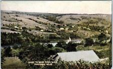 DIGBY to BEAR RIVER DRIVE, Nova Scotia  Canada  PANORAMA  1907 Postcard