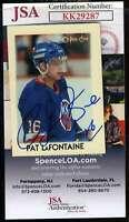Pat Lafontaine JSA Coa Hand Signed 1987 OPC Mini Autograph