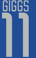 Manchester United Giggs Nameset Shirt Soccer Number Letter Heat Football 3rd