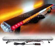 """47"""" Amber LED Emergency Response Warn Truck W/ BRAKE White Work CARGO Light Bar"""