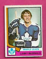1974-75 OPC # 168 LEAFS LANNY MCDONALD  ROOKIE EX+ CARD (INV# D8486)