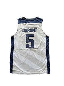 Kevin Durant Signed United States USA (2012 Olympics) White Jersey JSA