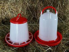 1 Ltr Stülptränke & 1 kg Futterautomat Futter Tränke Geflügel Hühner Küken