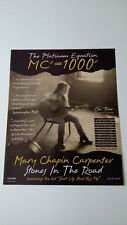 "Mary Chapin Carpenter ""Shut Up & Kiss Me"" 1994 Rare Original Print Promo Poster"