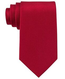 New MICHAEL KORS Silk Sorento Solid Scarlet Red Tie  Free Shipping