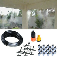 10m Garden Plants Irrigation Patio Misting Cooling System 20 Micro Dripper Kit