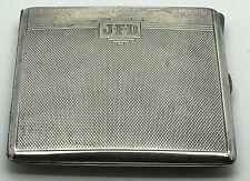 Vintage Sterling Silver Cigarette Case Vesta B & Co Bewlay Initials JFD DFJ FJD