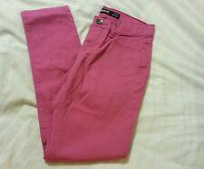 Jordache Girls Jeans Pants Sz 8 Super Skinny Adjustable Waist Fuchsia Kids