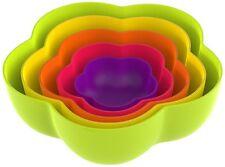 Zak Designs Sweety  Schüsselsatz Schüsseln Blume  5-er Set regenbogenfarben