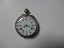 POCKET WATCH PETITE MONTRE GOUSSET ARGENT SILVER LADY ANTIQUE ROMAIN OLD VINTAGE