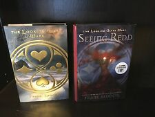 Lot of 2 by Frank Beddor~The Looking Glass Wars + SIGNED Seeing Redd HC 1st/1st