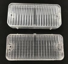 Pair Front Clear Park Light Lamp Lenses for 1967-1968 Chevy Pickup Truck