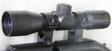 Compact Size 4x30 Air Rifle Scope + Ring Mounts Fits Crosman 760 Pumpmaster