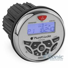 "Planet Audio PGR35B 3.5"" Bluetooth Gauge Hole Marine Digital Media Receiver"