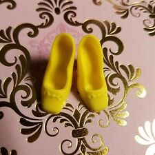 Vintage Square Tip Barbie Shoes Yellow