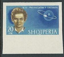 1963 ALBANIA SPAZIO TERESHKOVA 20 L NON DENTELLATO MNH ** - VA45-3
