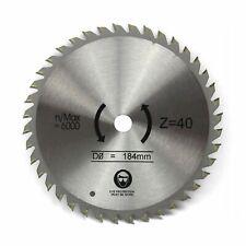 184mm x 16mm 40T TCT Circular Saw Blade Fine Cut for Wood
