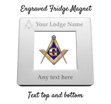 Personalised Engraved Magnetic Fridge Photo Frame - Freemasons - Masonic