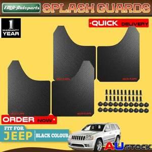 4x Black Front Rear Universal Splash Guards Mud Flaps for Jeep Cherokee Wrangler