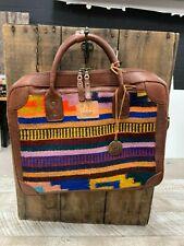 Will Leather Goods Geometric Rainbow Aztec Stripe Oaxacan Briefcase  NWT