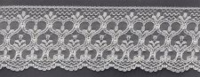 "3&3/4"" WHITE LACE FABRIC TRIM 10 YARDS"