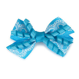 GRACIE BOWS - Asst Colors Polyester Ribbon Bows Rubber Band Dog Hair Grooming